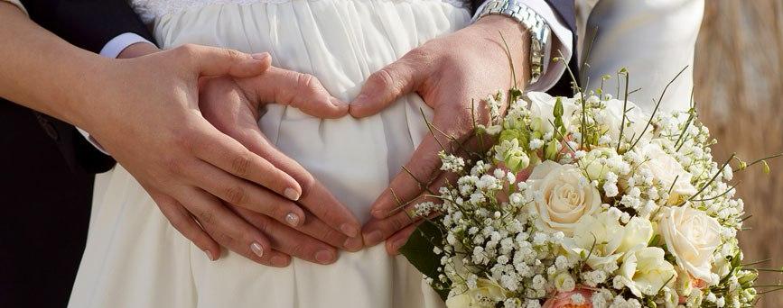 Sposarsi col pancione: si puòfare!